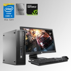 HP Prodesk 600 G1 Desktop Core i5 4ta. Gen. 24GB RAM DDR3, 240GB SSD, 500GB HDD, 2GB Video Nvidia