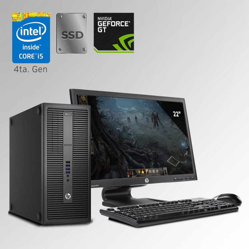HP ProDesk 600 Torre Core i5 4ta. Gen, 20GB RAM DDR3, 240GB SSD, 500GB HDD,GB, 4GB Video Nvidia