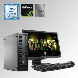 HP Prodesk 600 G2 Desktop Core i5 6ta. Gen. 40GB RAM DDR4, 240GB SSD, 500GB HDD, 2GB Video Nvidia