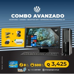 Combo Avanzado 2 - HP Elite Pro 6300 Desktop Core i5 3ra. Gen, 8GB RAM DDR3, 250GB HDD