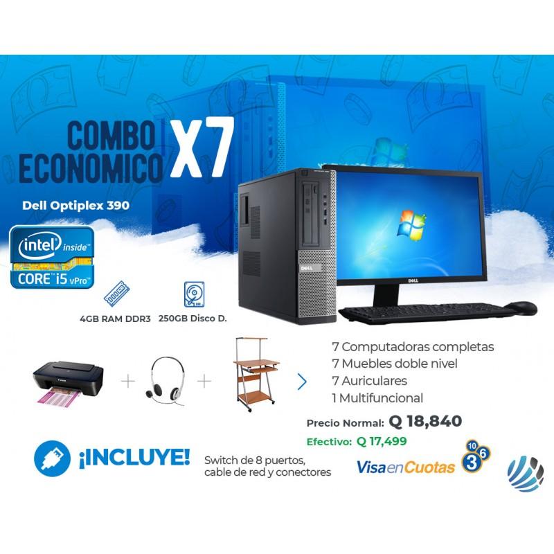 Combo de 7 Computadoras #4, Escritorios, Auriculares, Multifuncional y Accesorios