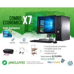 Combo de 7 Computadoras #1, Escritorios, Auriculares, Multifuncional y Accesorios