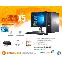 Combo de 5 Computadoras #2, Escritorios, Auriculares, Multifuncional y Accesorios