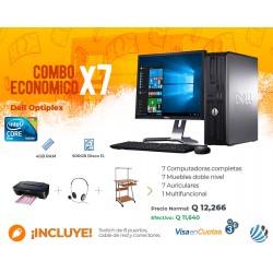 Combo de 7 Computadoras #2, Escritorios, Auriculares, Multifuncional y Accesorios