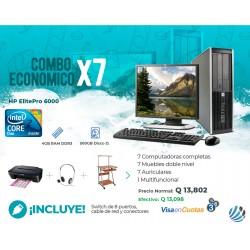 Combo de 7 Computadoras #3, Escritorios, Auriculares, Multifuncional y Accesorios