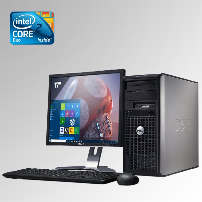 Dell Optiplex 755 Torre, Core 2 Duo, 2GB RAM DDR2, 160GB HDD