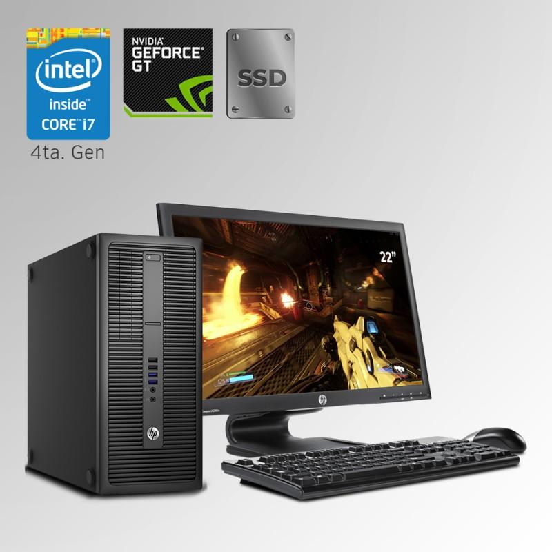 HP ProDesk 800 Torre Core i7 4ta. Gen, 24GB RAM DDR3, 240GB SSD, 500GB HDD,GB, 4GB Video Nvidia