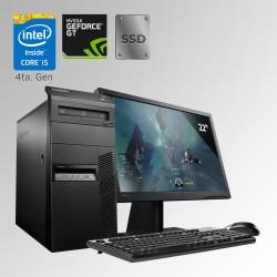Lenovo M93 Mini Torre Core i5 4ta. Gen. 20GB RAM DDR3, 240GB SSD, 250GB HDD, 4GB Video Nvidia