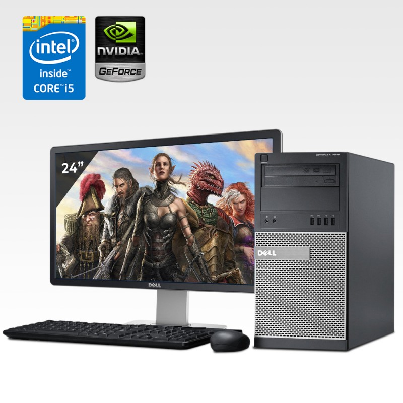 Dell Optiplex 9020 Mini Torre Core i5 4ta. Gen. 24GB RAM, 240GB SDD, 2TB HDD, 4GB Video Nvidia