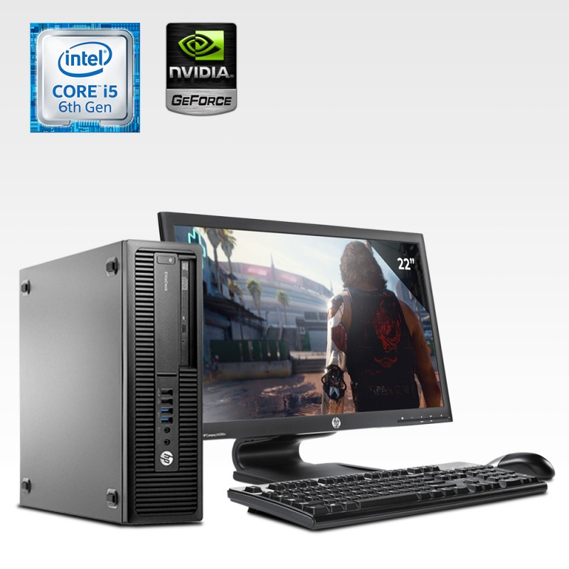 HP Prodesk 600 G2 Desktop Core i5 6ta. Gen. 40GB RAM DDR4, 240GB SSD, 1TB HDD, 2GB Video Nvidia