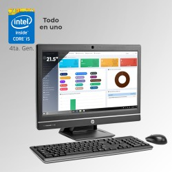 "HP ProOne 600 G1 Todo En Uno Core i5 4ta. Gen. Pantalla 21.5"", 8GB RAM DDR3, 500GB HDD"