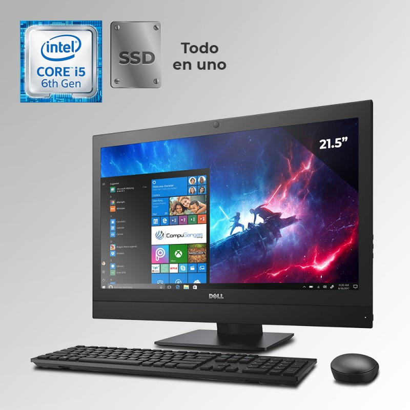 "Dell Optiplex 3240 Todo En Uno Core i5 6ta. Gen. Pantalla 21"", 4GB RAM DDR3L, 128GB SSD"